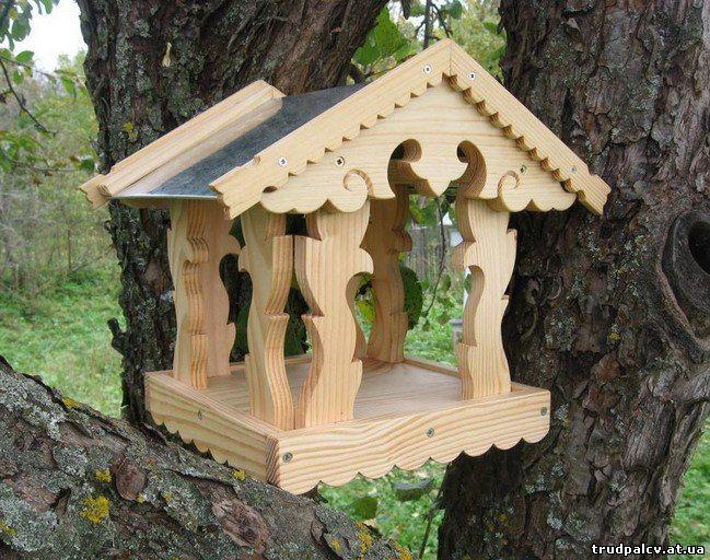 Кормушка для птиц из дерева чертежи фото