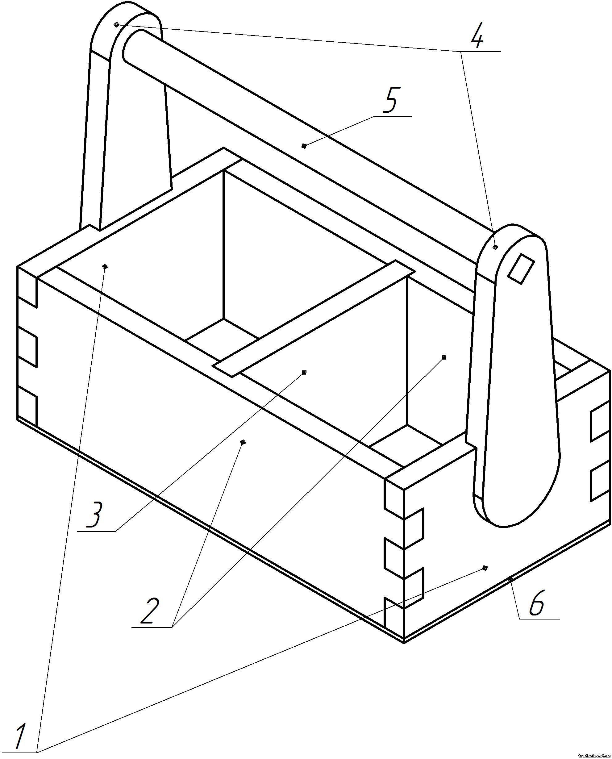 Сделать ящик для инструментов чертёж